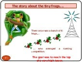 Interesting story of tiny frogs