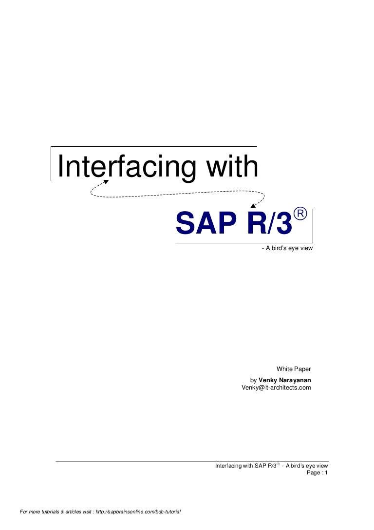 Interfacing sap - BDC