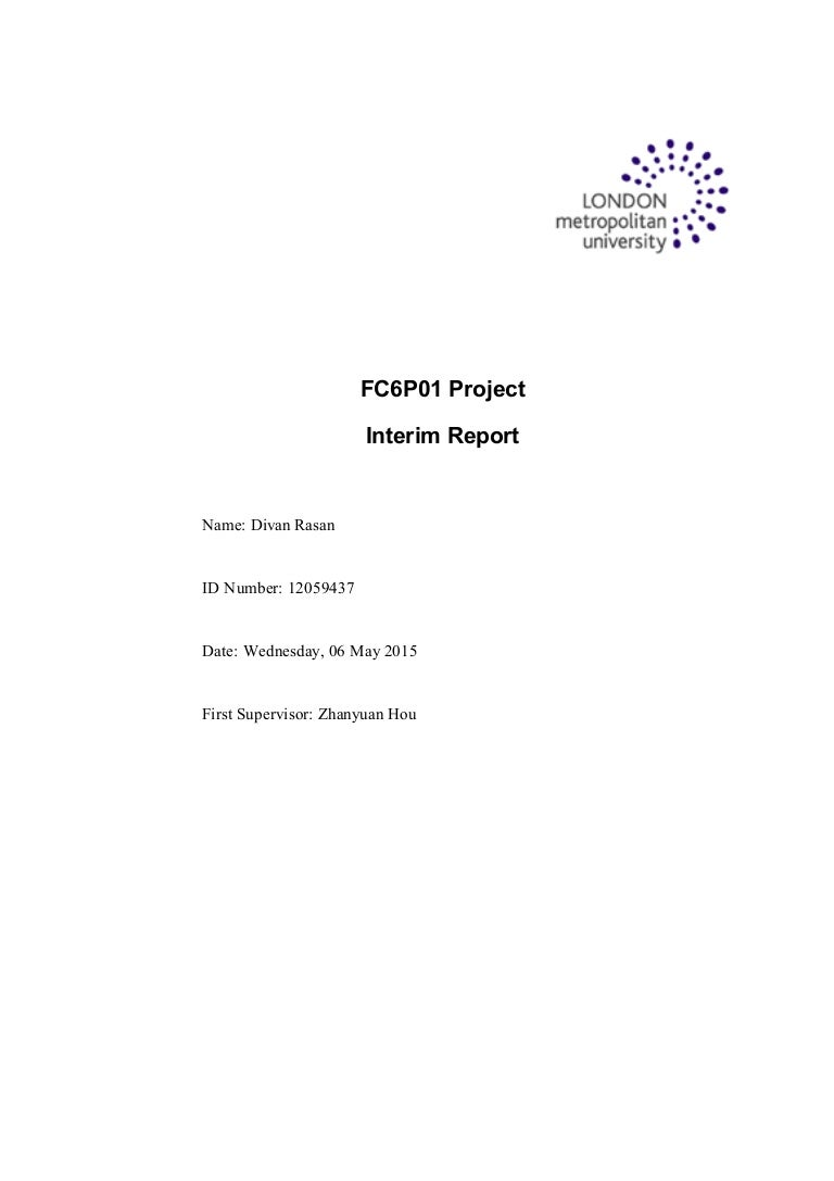Interim Report Template