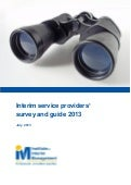 Interim service providers survey and guide 2013 4.0