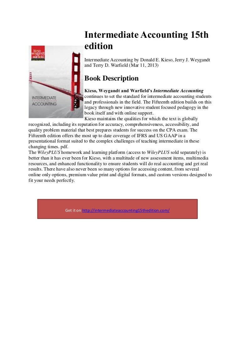 Intermediate Accounting 15th Pdf