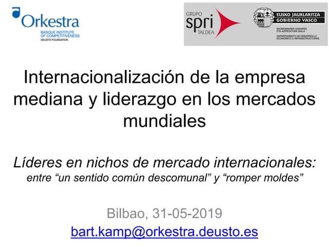 Internacionalización de la empresa mediana y liderazgo en los mercados mundiales