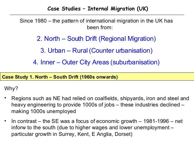 counterurbanisation case study uk