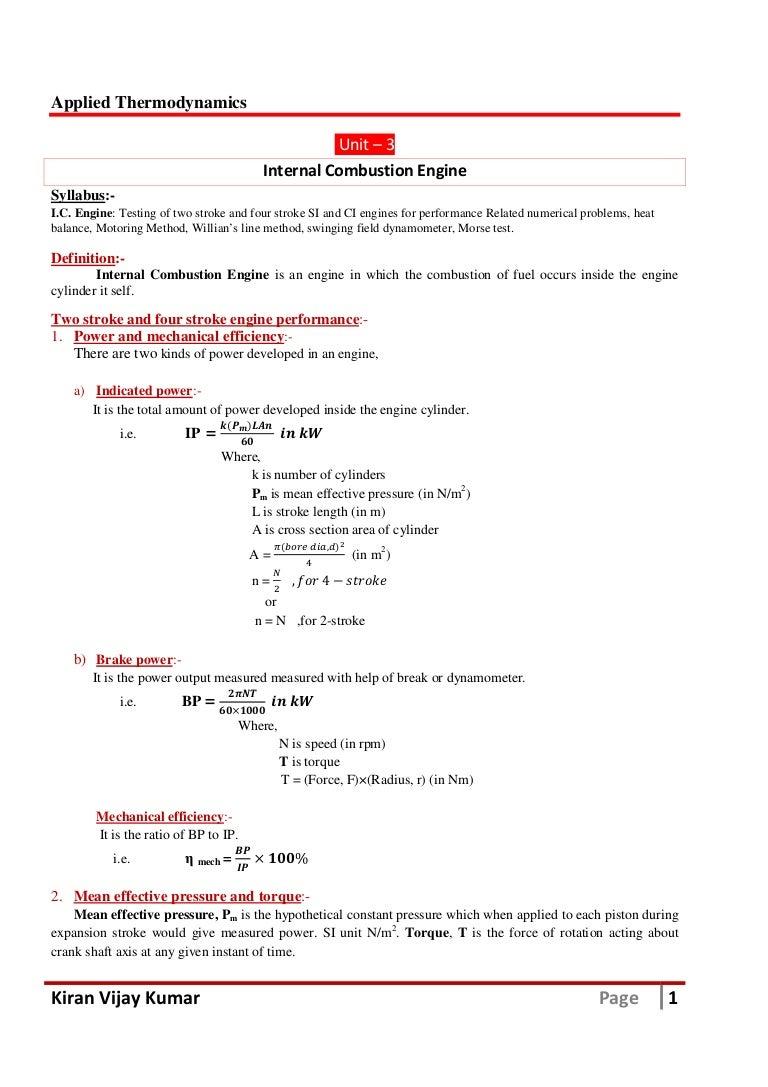 Internal Combustion Engine Vtu Atd Notes Pdf Download Simple Diagram