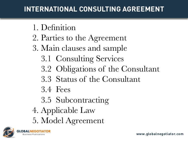 Business Consulting Agreements. Long-Term Consultancy Agreement