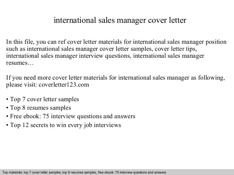 SlideShare  Cover Letter For Sales Job