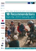 International Security Issues: 10 Recommendations from the 2010 Security Jam