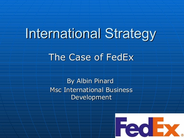 case study of fedex and ups View fedex vs ups case study from infs 330 at roosevelt university describe the competition in the overnight package delivery industry, and the strategies by which.