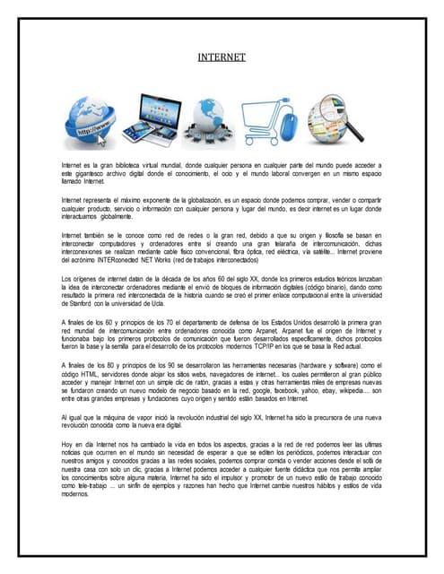 """""""EL SISTEMA OPERATIVO INTERNET"""""""