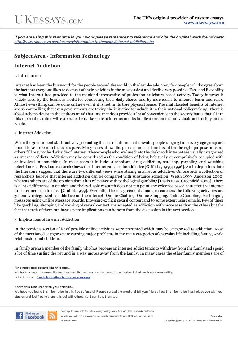 internet addiction essay information technology essays internet addiction