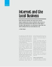 Internet and the local business