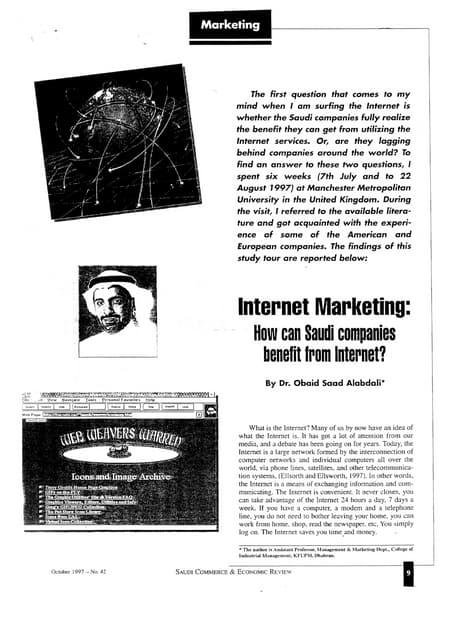 Internet marketing paper