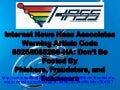 Internet News Hass Associates Warning Article Code 85258083266-HA: Don't Be Fooled By Phishers, Fraudsters, and Scammers