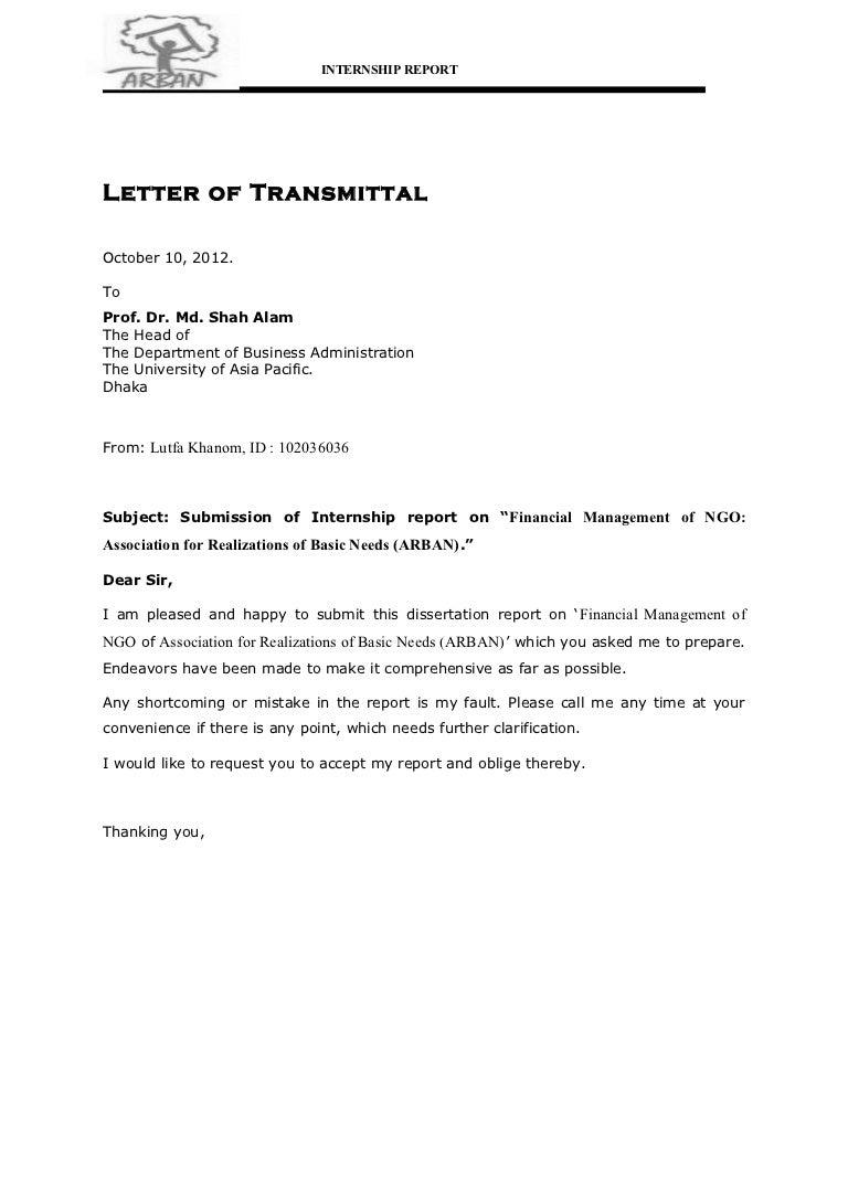 internship request letter
