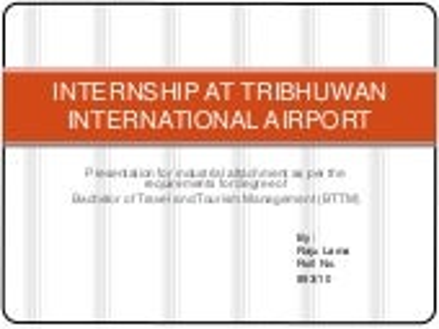 Internship at tribhuwan international airport