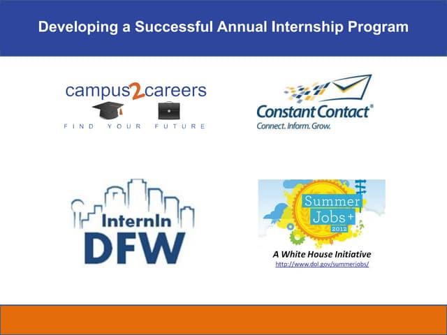 Internship fair workshop dfw