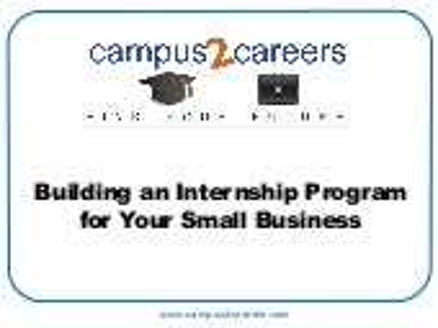 Internship program guide