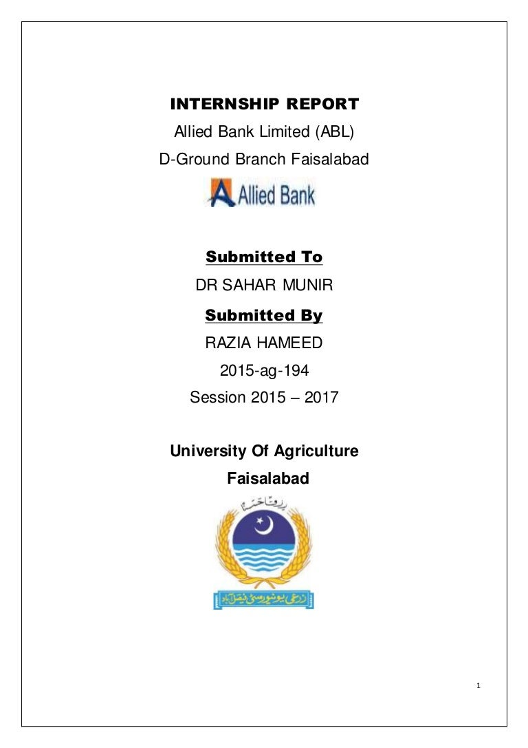 Internship report on ABL
