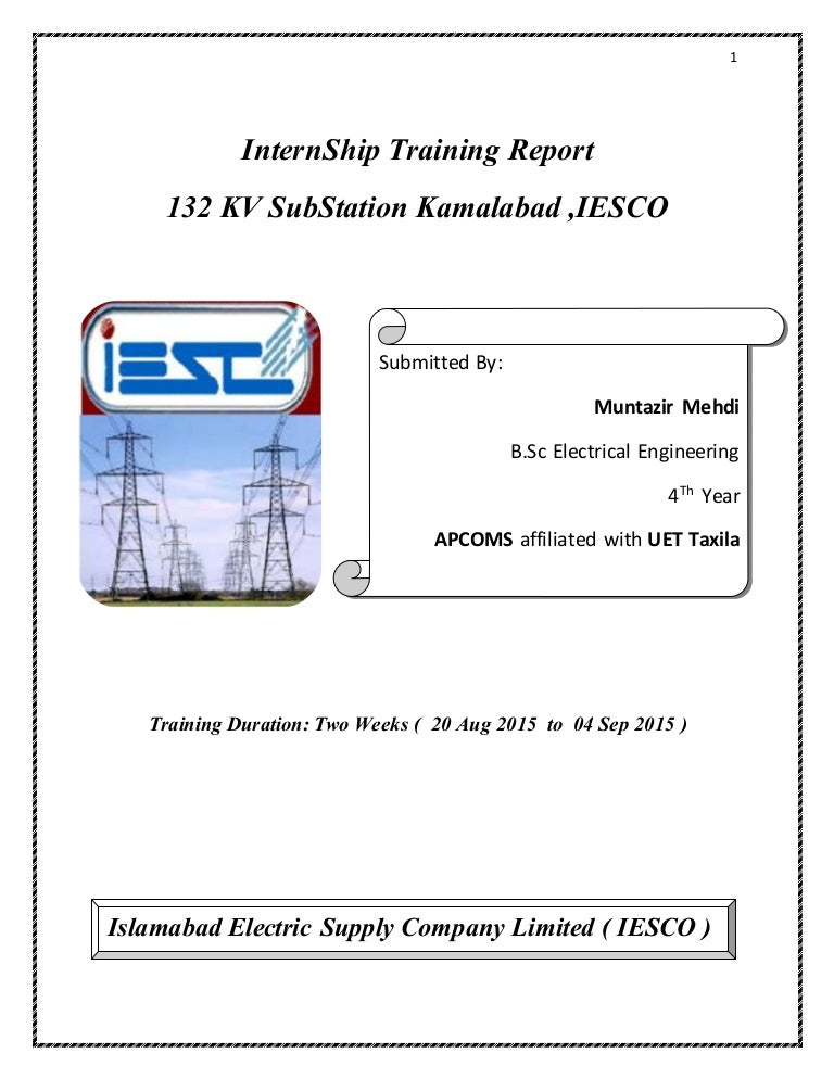 Kv Grid Station Intern Ship Training Report