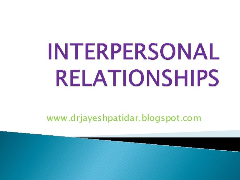 interpersonal relationship among students