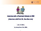 Interview Prof. Dr. Lim at University of Oklahoma