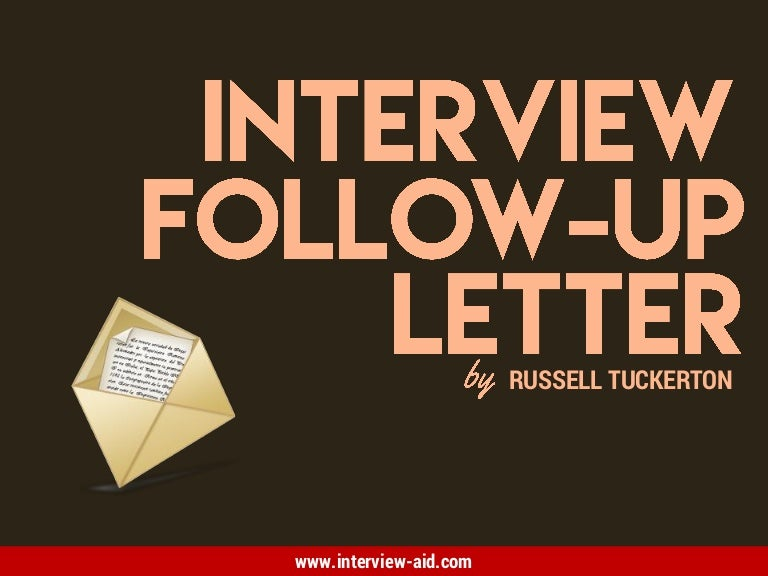 Interview FollowUp Letter