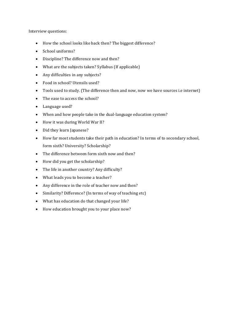 interview questions draft projek knk mib unissa