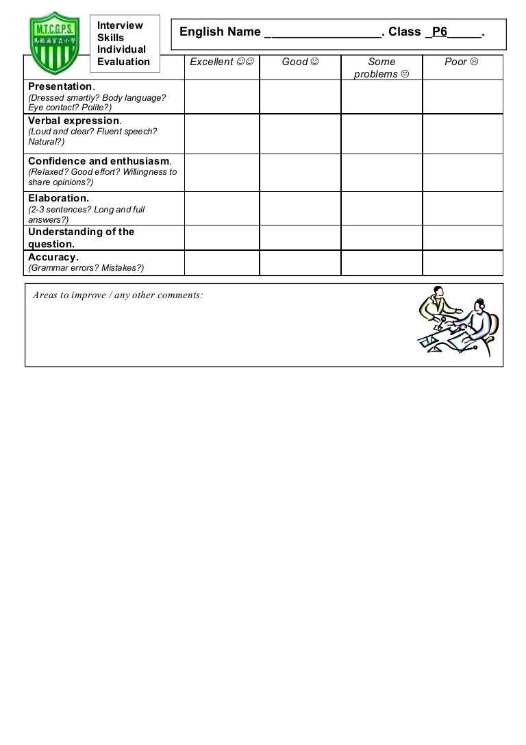 tom s tefl interview skills evaluation form