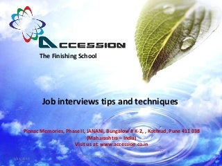 Interview tips and techniquesl