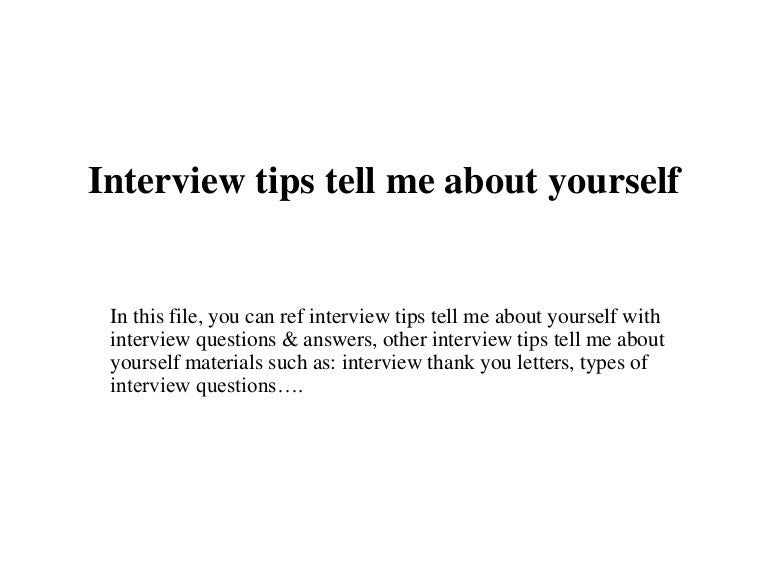 Interviewtipstellmeaboutyourself 150708183808 Lva1 App6892 Thumbnail 4gcb1436407243