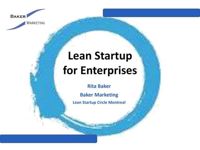 Lean Startup for Enterprises