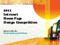Intranet homepage competition