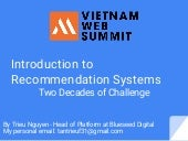 Introduction to Recommendation Systems (Vietnam Web Submit)