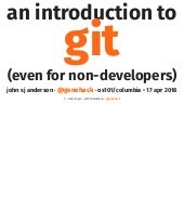 Introduction to Git for Non-Developers