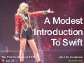 A Modest Introduction To Swift