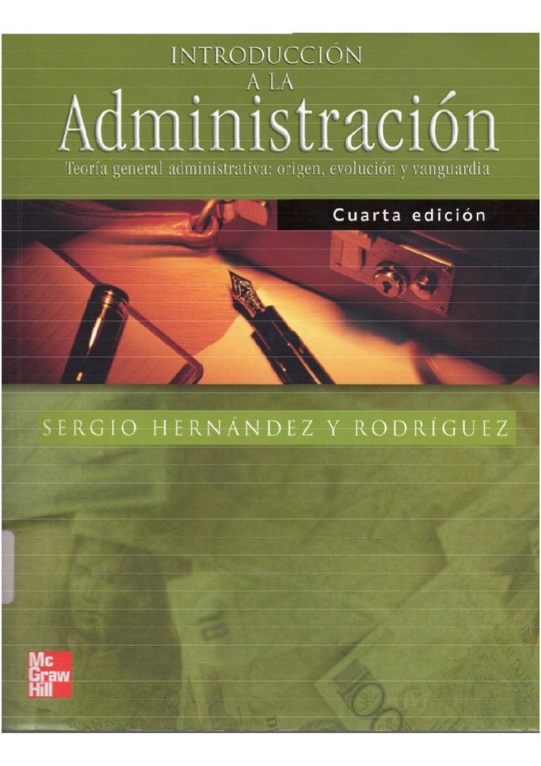 libro de administracion sergio hernandez y rodriguez pdf