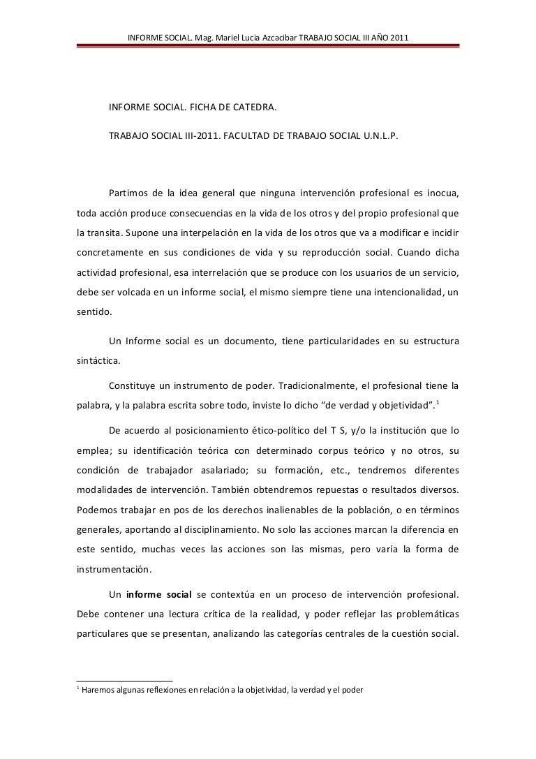Introduccion informe social ts20