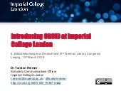Introducing ORCID at Imperial College London