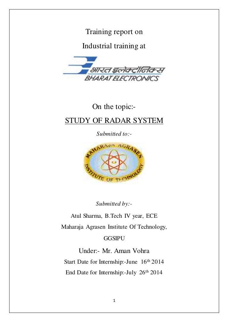 Study of Radar System