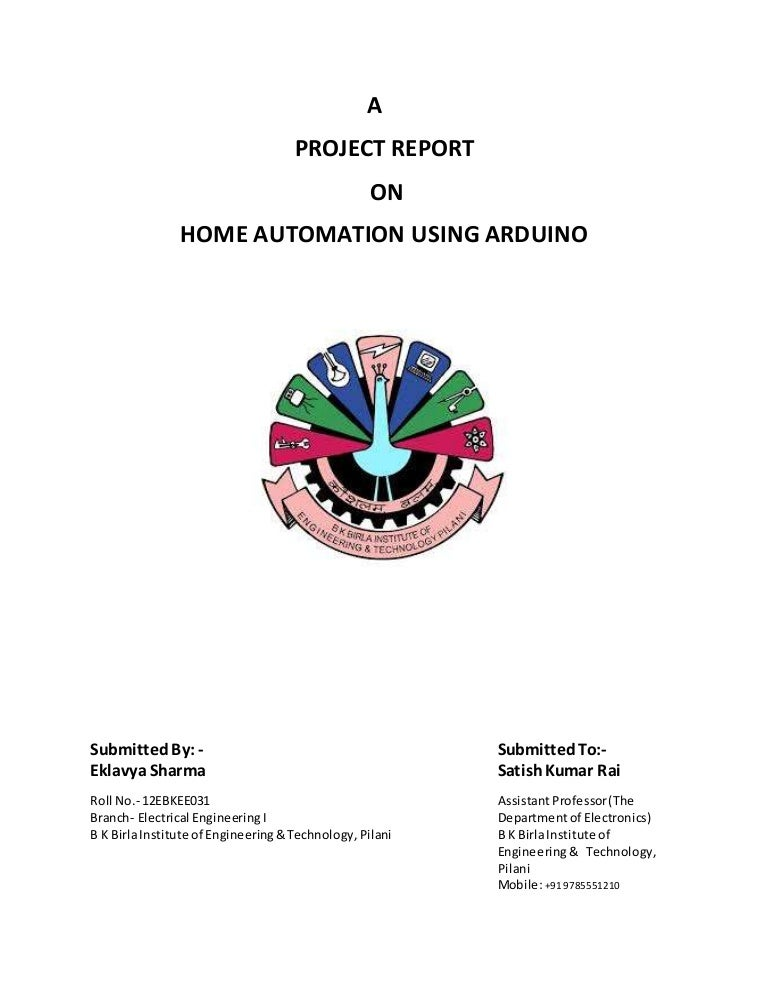 Final year project report on home automation system
