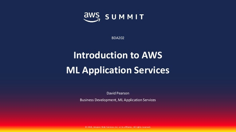 Introduction To AWS ML Application Services