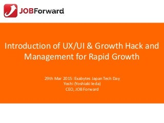 Introduction of UX/UI & Growth Hack and Management for Rapid Growth