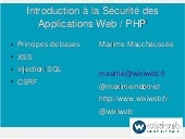 Introduction à la sécurité des applications web avec php [fr]