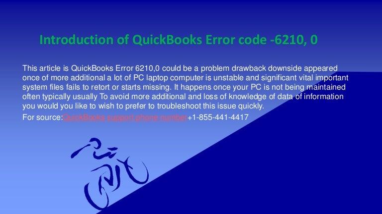 Introduction of quick books error code 6210, 0