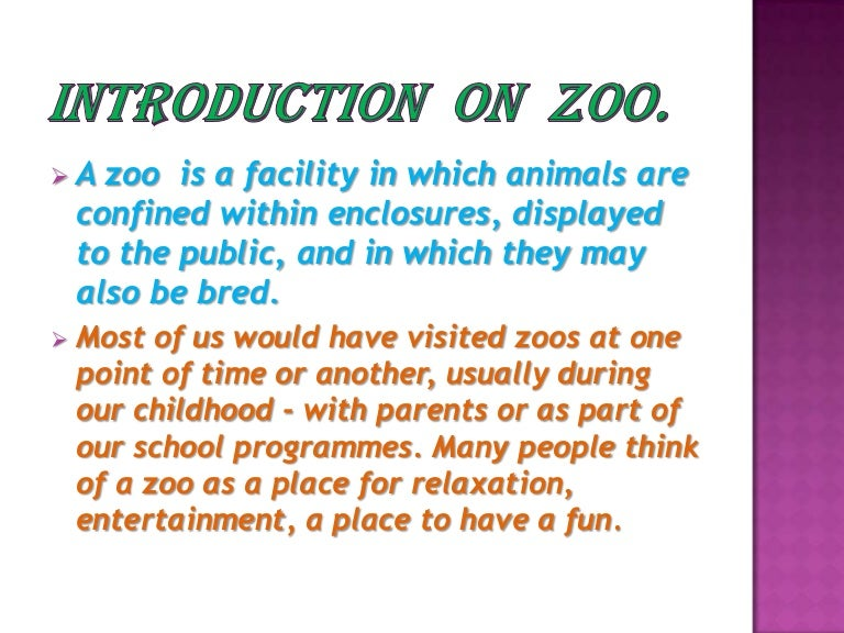 Introduction On Zoo