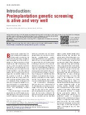 Introduction   preimplantation genetic screening is alive and very well.