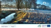 CaBA ArcGIS Online Training - Intro to catchment story maps. Introduction to ArcGIS Online for Catchment Management