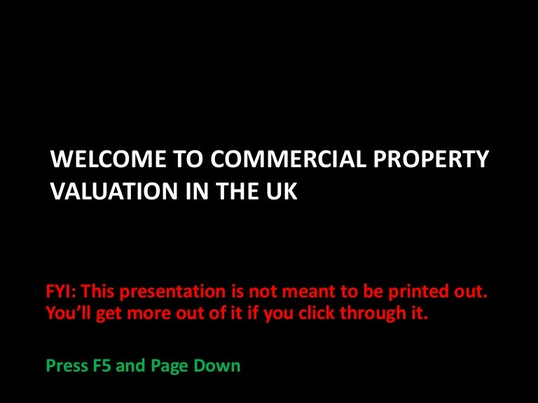 Introduction To Commercial Property Valuation B W