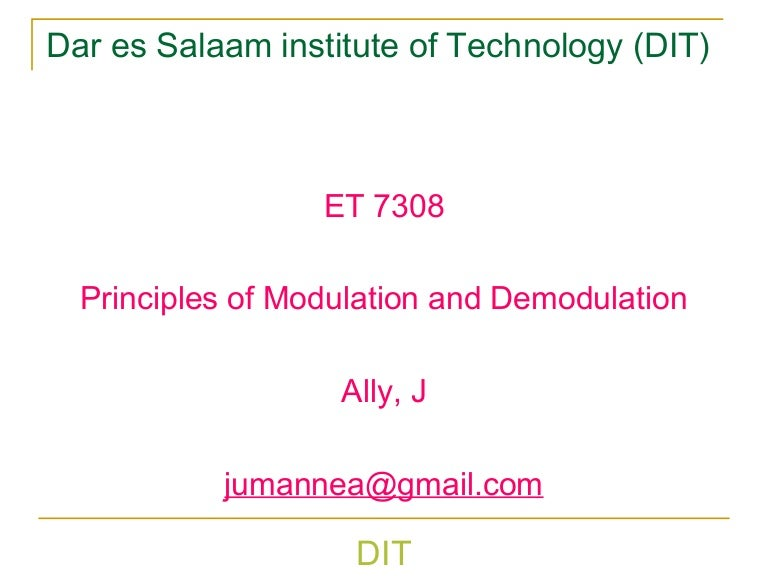 Introduction to communication system lecture4