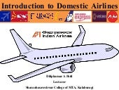 Introduction to domestic airlines in India